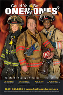 Canned Fire Volunteer Firefighter Recruitment and Retention Campaigns - Poster - Adult