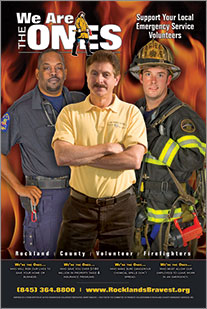 Canned Fire Volunteer Firefighter Recruitment and Retention Campaigns - Poster - Business