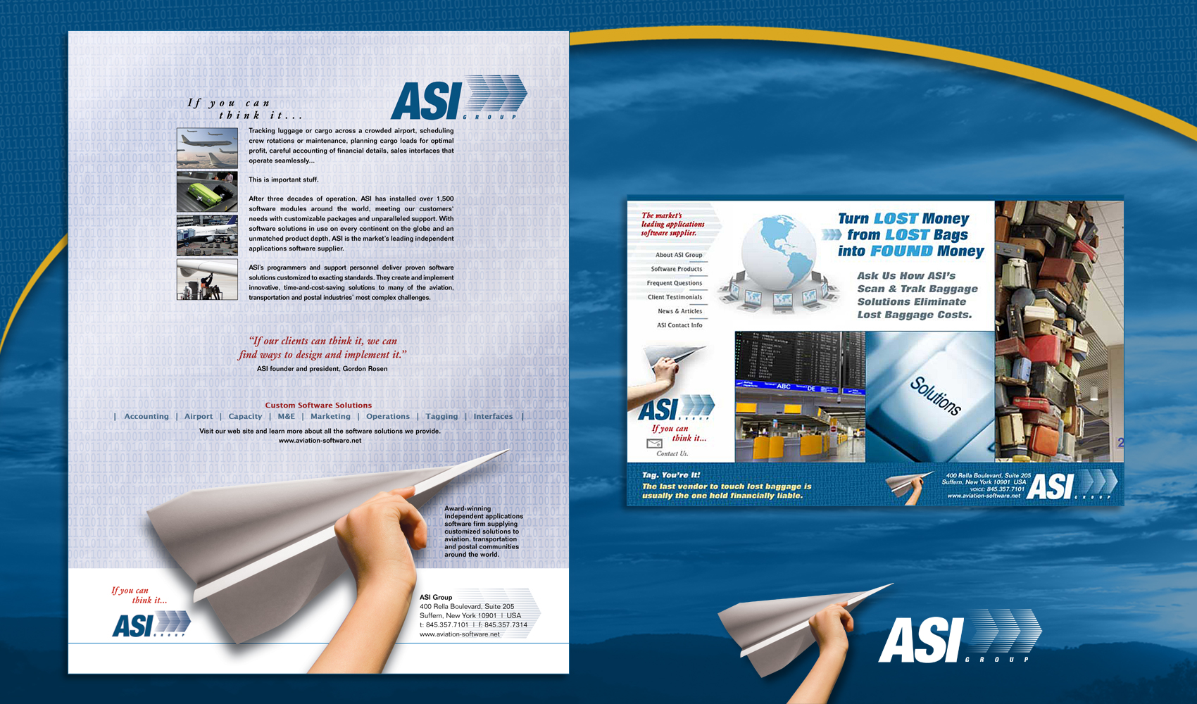 Aviation Software - Print & Web Ads