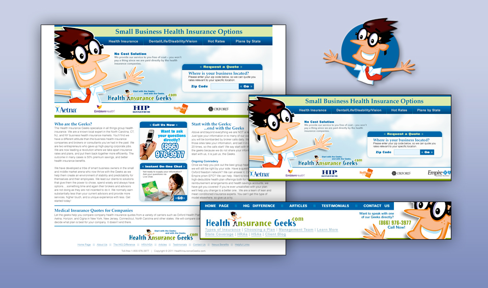 Health Insurance Geeks - Web Site and Banner Ads