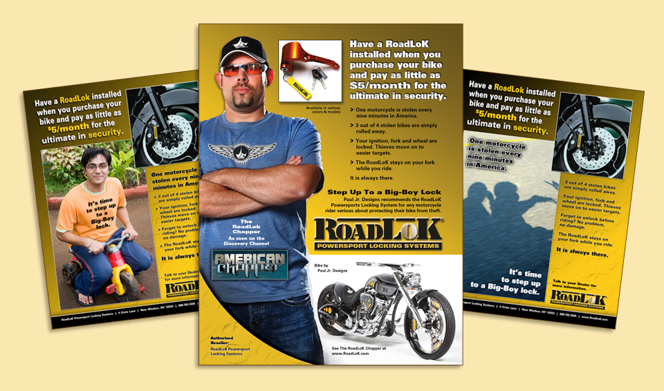 RoadLoK - Counter Display Cards & Flyers