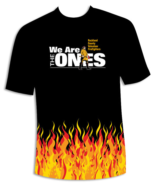 Canned Fire Volunteer Firefighter Recruitment and Retention Campaigns - We're The Ones - T-shirt