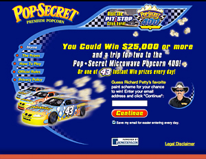 Pop Secret Popcorn - interactive promotion